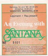 Santana   In Concert 1980   org.Ticket / Konzertkarte / Eintrittskarte