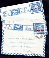 Swaziland 6d overprinted Air Letter used & unused WS14995