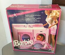 1991# VINTAGE BARBIE MATTEL PINK MAGIC WASHER & DRYER PLAYSET#NIB