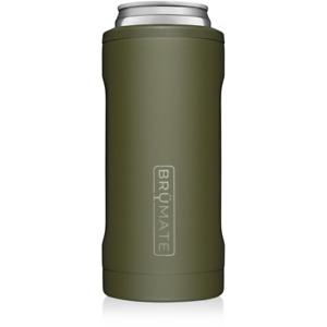 NEW Brumate Hopsulator Slim Can Cooler Tumbler 12 oz Drink Holder OD Green