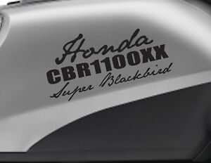 HONDA CBR 1100XX super blackbird motorbike bike logo decals CUSTOM Vinyl Sticker