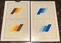 *BRAND NEW* Lot of 2 Vintage Merit Cigarettes Playing Cards Deck Brown/Blue