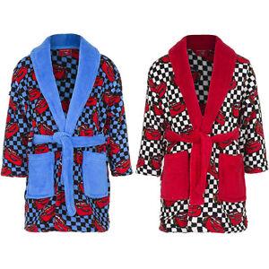 Kids Bathrobe Boys Disney Cars Blue Red Cuddly Soft 98 104 116 128 #141