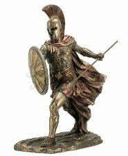Achilles With Spear & Shield Statue Greek Hero Sculpture Figurine HOME DECOR