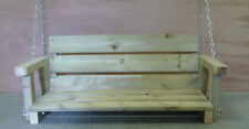 Wooden Garden Swing Bench 120cm Long 4Ft  Just The Bench Bespoke Bench