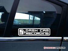2x Cámara en Tablero Auto-Adhesivos de Grabación Cctv Dashcam señal de advertencia