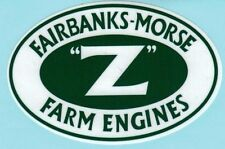 "Fairbanks Morse Z Farm,Engine Decal 3 7/8 x 2 1/2"" Gas Motor Flywheel Antique"