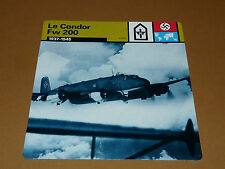 FOCKE-WULF Fw 200 CONDOR 1937-1945 LUFTWAFFE AVIATION FICHE WW2 39-45