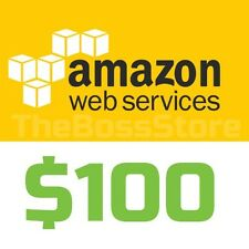 Amazon AWS Web Services $100 Voucher Credit Code Non-EDU EC2 SQS RDS