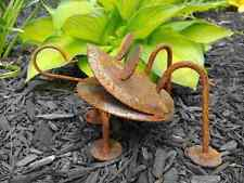 Amish made wrought iron Rusty frog - handcrafted metal lawn / garden art decor