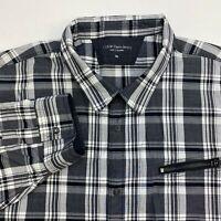Calvin Klein Jeans Button Up Shirt Men's 2XL XXL Long Sleeve Multi Plaid Casual