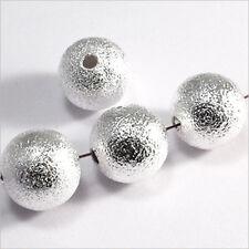 Lot de 10 perles Rondes 12mm en Métal plaqué Argent