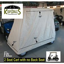 Kuveralls HEAVY DUTY 600 Denier, 2 Passenger Golf Cart Cover With Storage Bag