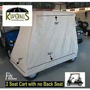 Kuveralls HEAVY DUTY 600 Denier, 2 Passenger Golf Cart Cover With Storage Bag