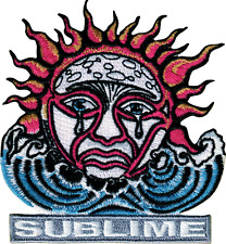 89092 Sublime Weeping Sun Logo Waves Ska Punk LBC 90s Embroidered Iron On Patch