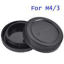 Plastic Rear + Body Lens Cap Cover For Olympus OM 4/3 M4/3 Camera Body & Lens