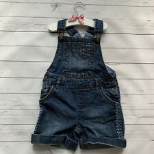 Girls 4-5 Years - Dungarees Shorts - FAT FACE Blue Denim Embroidered