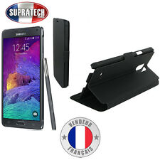 Etui Rabattable Noir Avec Support pour Samsung Galaxy Note 4 N910