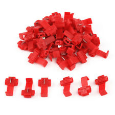 50Pcs Red Scotch Lock Wire Connectors Quick Splice Terminals Crimp Electrical