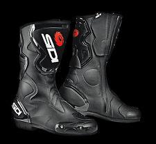 NEU SIDI Motorradstiefel Fusion schwarz Gr. 42 Racing Motorrad Stiefel NEW