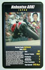 1 x card Top Trumps MotoGP The riders Nobuatsu Aoki Japan