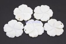 5 PCS 26mm Flower Natural White Mother of Pearl Shell For Pendant Making DIY