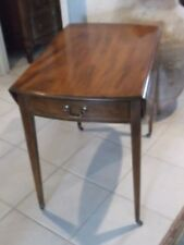 Kittinger Mahogany Pembroke Dropleaf One Drawer End Table