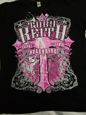 Toby Keith 2012 Live In Overdrive Tour T-Shirt Women's Medium Black Pink Cross