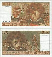 BILLET 10 FRANCS BERLIOZ O 15 5 1975 O R 186