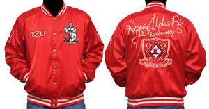 New! Mens Kappa Alpha Psi Metallic Satin Jacket Button Up Coat