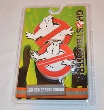1GB USB Drive & Eraser Combo Ghost Busters 2016 Logo Movie TV Theme New