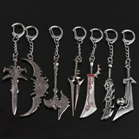 World of Warcraft Keychain Ax Weapons The Lich King Frostmourne Chain Sword
