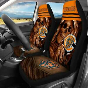 Set of Two Chicago Bears Seater Car Front Seat Cover Universal Cushion Protector