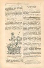 Joyaux Perle Offerte à Louis XIV 1686 Offert par Gianetino Semeria GRAVURE 1844
