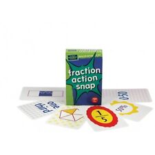 NEW The Green Board Game Co. - Fraction Action Snap Cards Card - 7 years plus