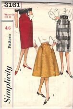"""Simplicity Pattern 3161, Vintage Skirts in 3 Styles, Waist 30"""" Hip 40"""", Not Used"""