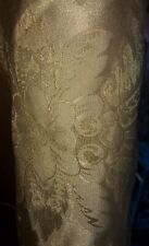 ANTIQUE GOLD BROCADE CURTAIN FABRIC 5.45m