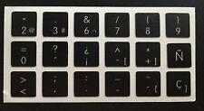 Pegatinas teclado español Apple MacBook Pro 2006-2015 Spanish Keyboard Stickers