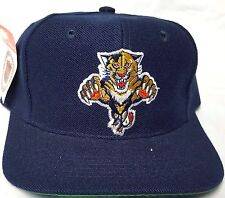 NEW! NAVY  NHL FLORIDA PANTHERS EMBROIDERED SNAP  BACK  CAP