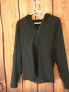 $128 Lululemon 'Fuel the Track 1/2 Zip' Shirt/Jacket Graphite Grey SZ S