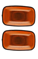 fit Toyota LANDCRUISER PRADO 95 Dual Cab Side Guard Indicator Light Pair AMBER