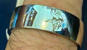 Minnesota Vikings Titanium Ring, style #4, sizes 5-14