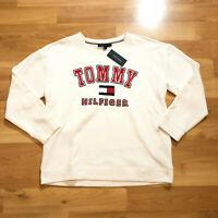 Tommy Hilfiger Men Crew Neck Long Sleeve Sweater white Size Large