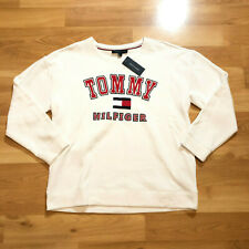 Tommy Hilfiger Men Crew Neck Long Sleeve Sweater white Size Large