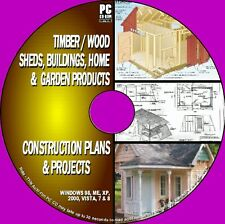 1000+  DIY WOOD PLANS & PROJECTS WOODEN SHEDS BARNS PLAY & WENDYHOUSES PC CD Rom
