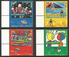 Israel 2000 Stamps CHILDREN'S PAINTINGS OF THE FUTURE. LEFT TAB. MNH. (V.Nice)