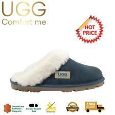 UGG Fur Trim Scuffs, CLEARANCE, Australian Sheepskin, Womens, Mens, Navy