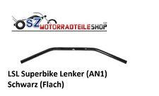 LSL Superbike Lenker AN1 22mm Schwarz flach passend f. Kawasaki Yamaha Honda