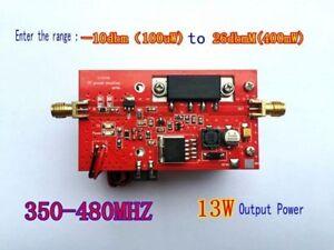 350-480MHZ 13W UHF RF Radio Power Amplifier AMP DMR + heatsink + Fan