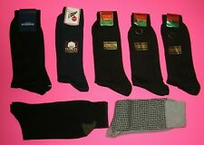 NEW Man's 7x Brown/Blue/Beige Cotton Dress Socks Size: 7-10